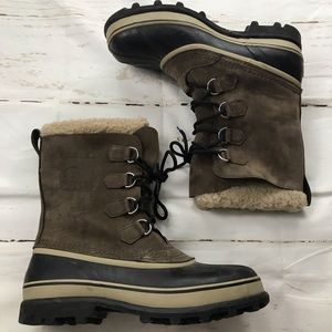 Sorel MENS leather weatherproof snow boots